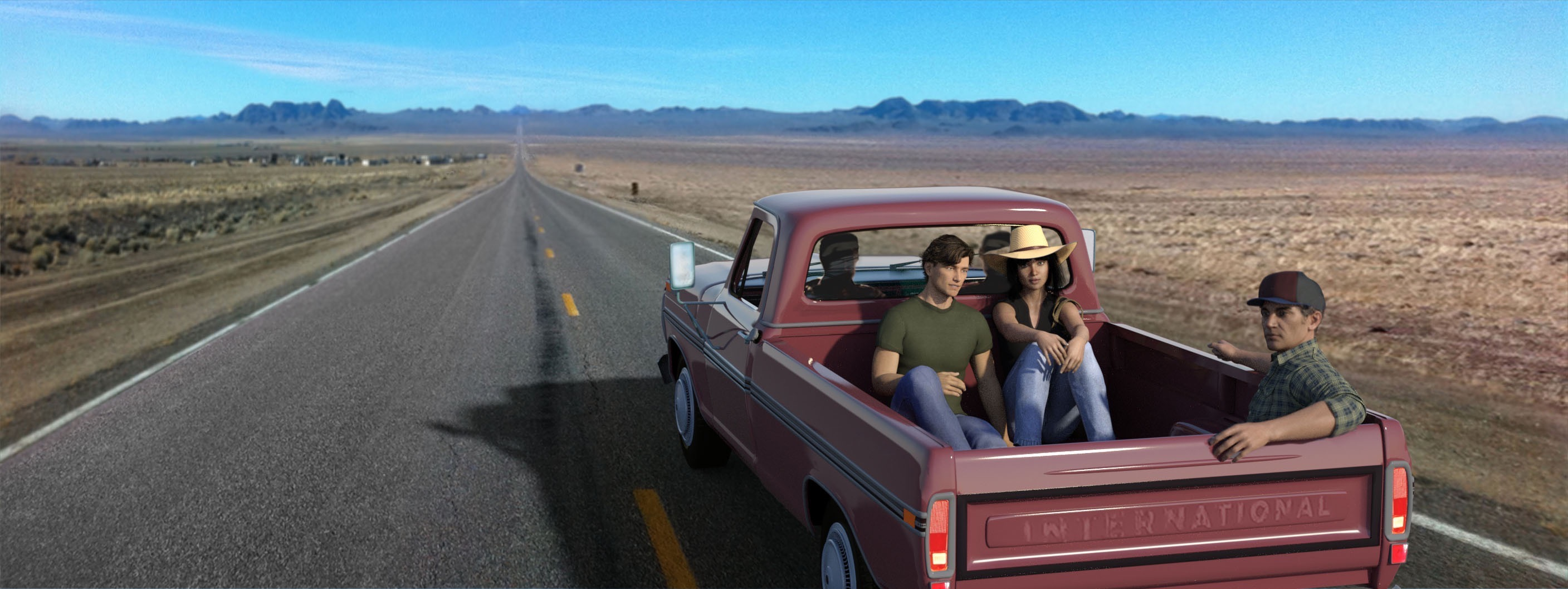 Hitchhiking to the desert