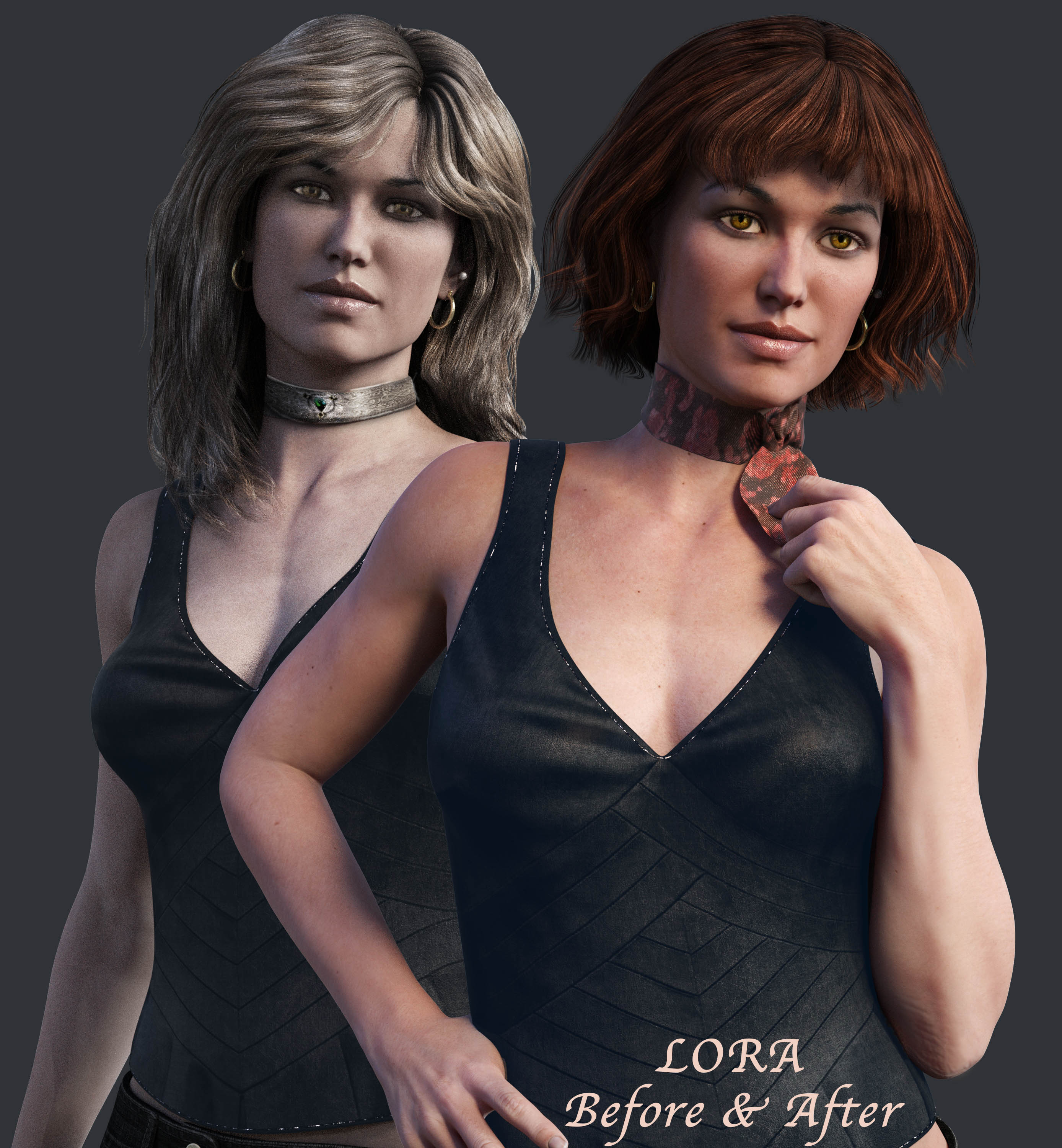 Lora, before & after hair change