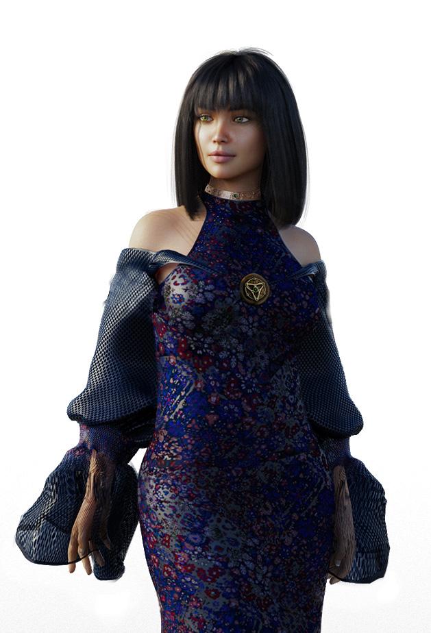 Mickmi in her crowning dress